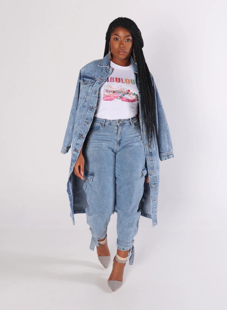 RIRI Long Denim Jacket
