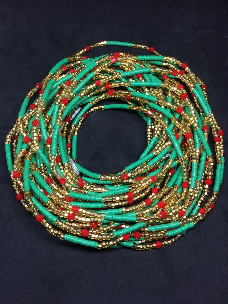 Serwa Glass Waist Beads (with Screw Clasp)