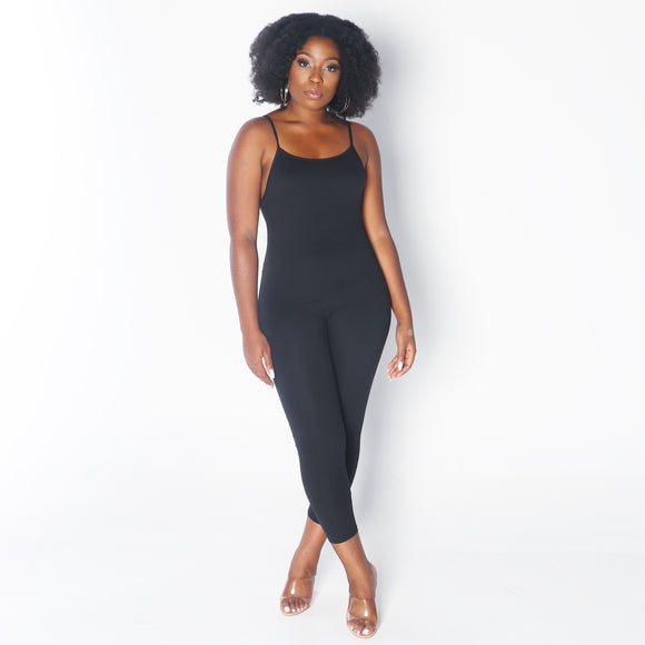 CAMI Spaguetti Straps Jumpsuit in Black