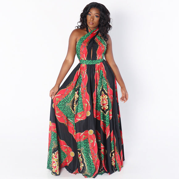 NUBIA Maxi Dress in GREEN