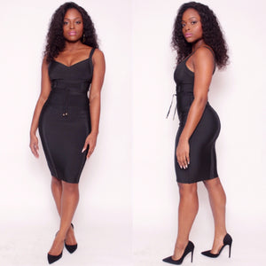 ALEXIS Bandage Dress in Black