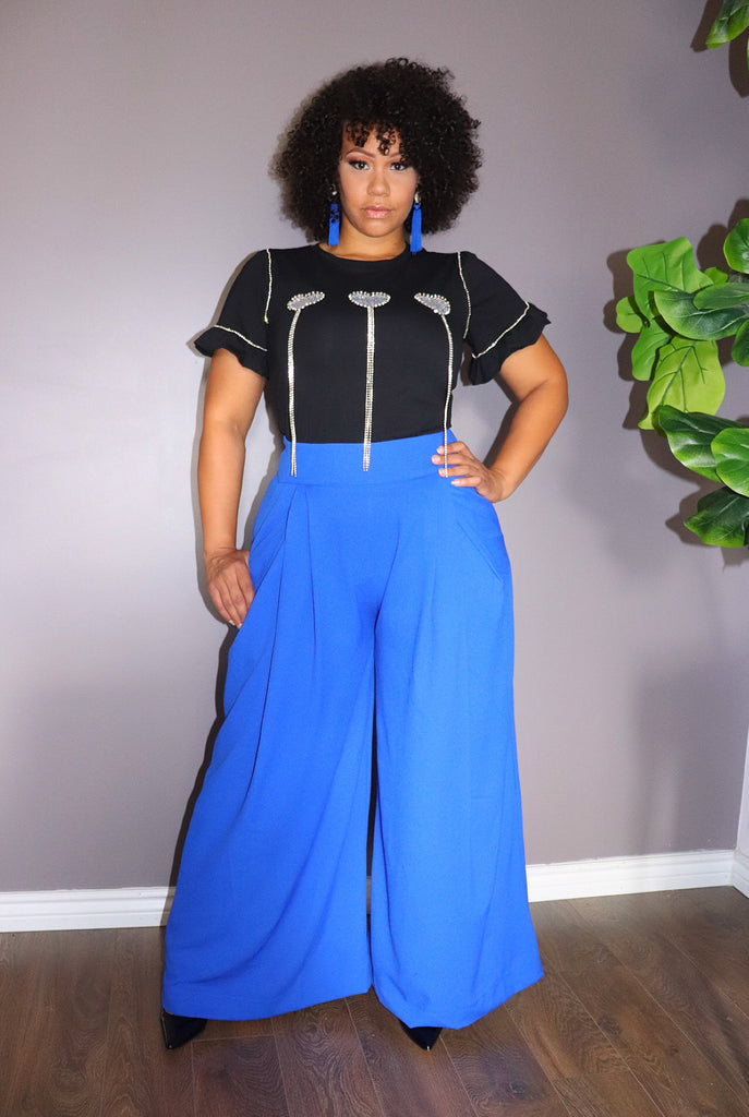 IN MOTION PALAZZO Pants in Royal Blue