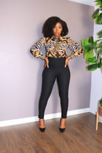 ORNATE ZEBRA PRINT Blouse