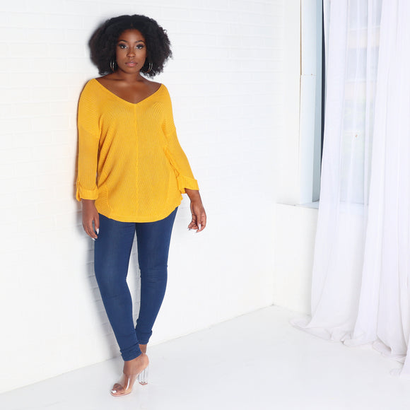 Mustard Light Knit Sweater