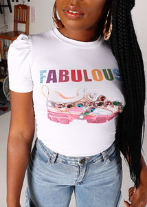 FABULOUS Sneaker Shoe Jewel Shirt