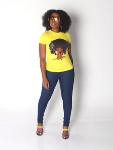 FIT FOR A QUEEN Shirt in Yellow