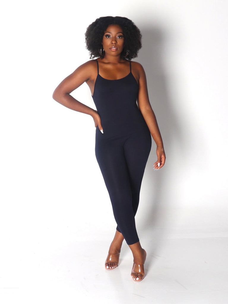 CAMI Spaguetti Straps Jumpsuit in Navy Blue