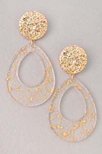 GOLD Marble Drops Earrings