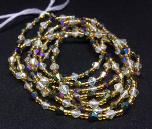 Afia Crystal Waist Beads (with Screw Clasp)