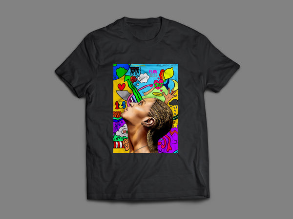 Beyonce Collage T-Shirt  (Black)