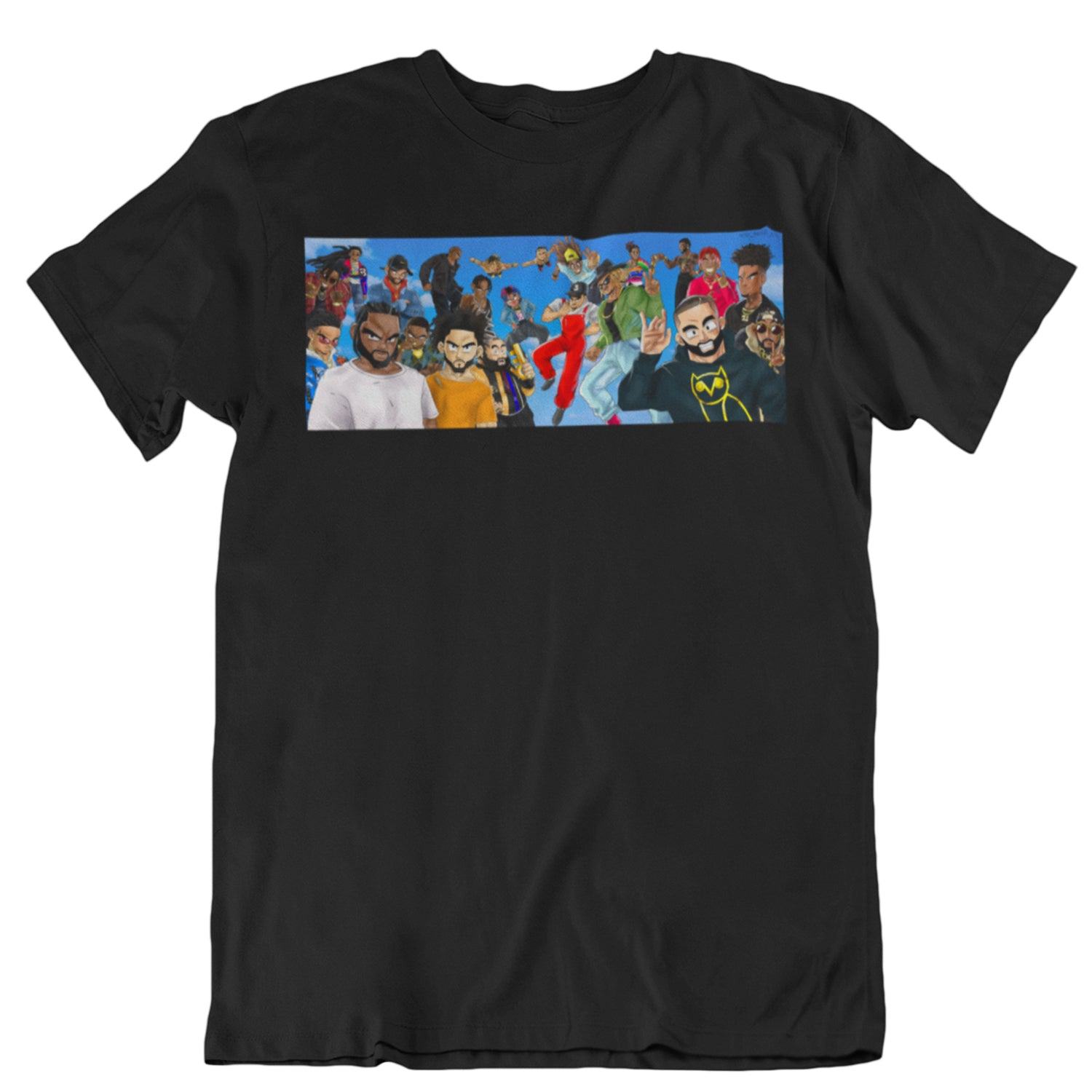 DBZ X RAPPERS T-Shirt  (Black)