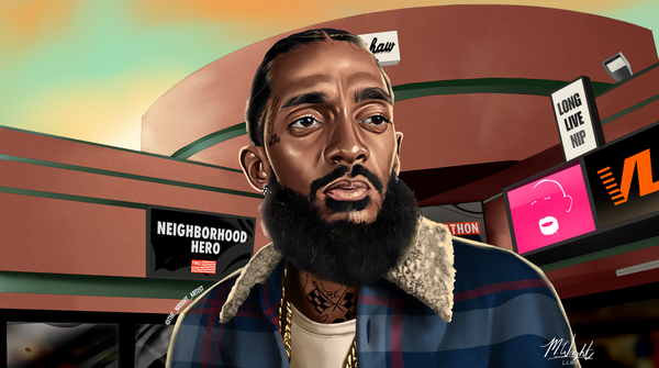 'Nipsey Tribute' Canvas