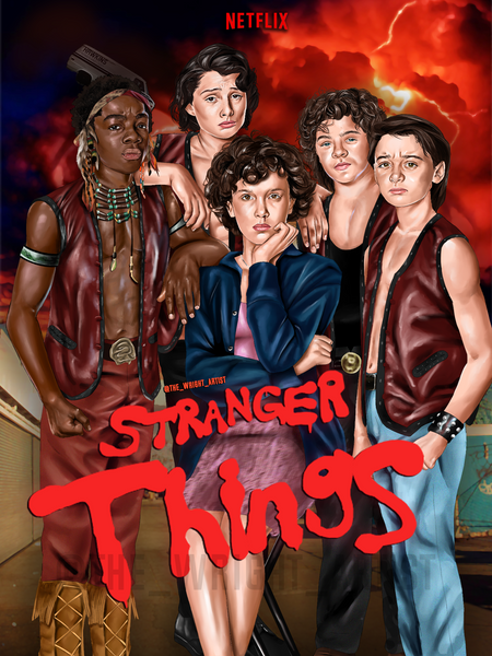 Stranger Things (Warriors) Canvas