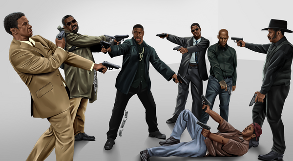 'The Denzel Standoff' Canvas