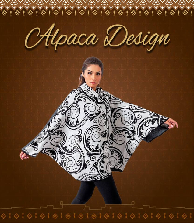 Poncho exclusive design - Alpaca