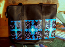 "Large Hand Painted Tote bag ""Runnin Blues"""