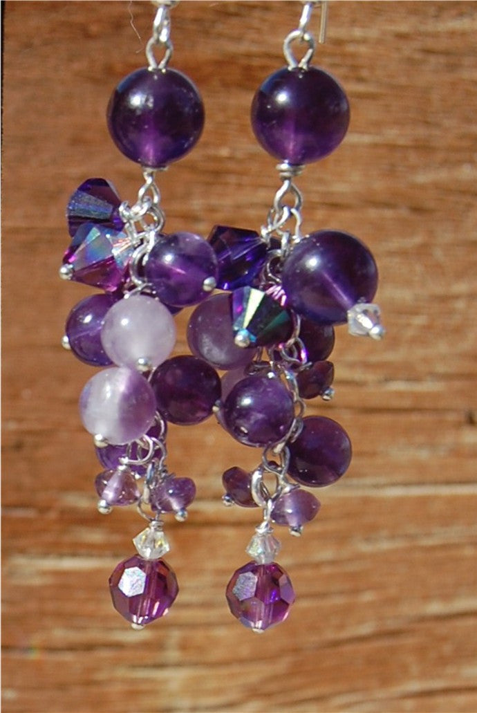 Amethyst Grape earrings