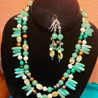 Green Aventurine Necklace and earrings