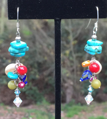 Turquoise Multi Earrings