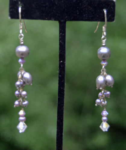 Lavender Pearl Earrings