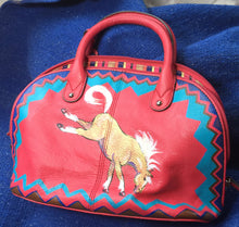 Pink Tignanello Painted Purse with Palomino