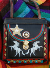 Hand Painted purse with Horses