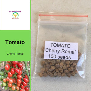 Tomato 'Cherry Roma'-Vegetable-100 Seeds-Base Chakra