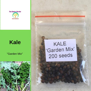 Kale 'Garden Mix' - Vegetable - 200 Seeds - Heart Chakra