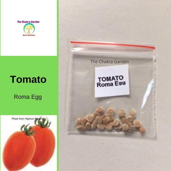 Tomato 'Roma Egg'-Vegetable-25 Seeds-Base Chakra