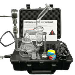 Complete Pelican Case Digital E-Nail Kit with Dab Rig Water Pipe-Woody's Smoke Shop