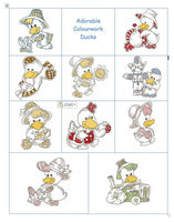 Cute duckling machine embroidery designs by embroiderytree.com