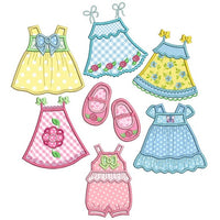 Baby dress applique machine embroidery designs by rosiedayembroidery.com
