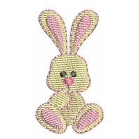 Mini fill stitch bunny machine embroidery design by rosiedayembroidery.com