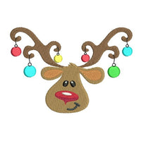 Christmas reindeer machine embroidery design by rosiedayembroidery.com