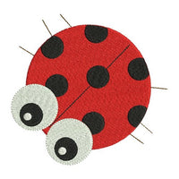 Mini ladybug machine embroidery design by rosiedayembroidery.com