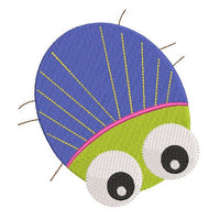 Cute mini bug machine embroidery design by rosiedayembroidery.com