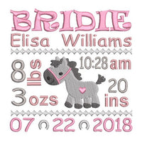Baby Birth Announcements - Personalised