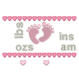Baby Birth Announcement -Template Embroidery Design by embroiderytree.com