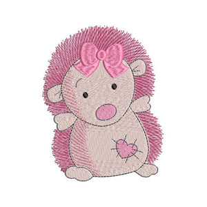 Mini hedgehog machine embroidery design by rosiedayembroidery.com