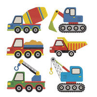 Construction vehicle machine embroidery designs by rosiedayembroidery.com