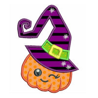 Halloween Pumpkin with Hat Applique (FA504-4)