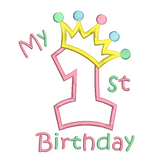 My 1st birthday applique machine embroidery design by rosiedayembroidery.com