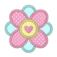 Flower applique machine embroidery design by rosiedayembroidery.com