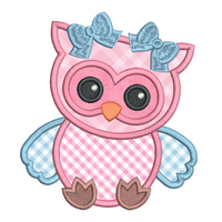 Baby owl applique machine embroidery design by rosiedayembroidery.com