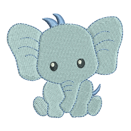 Baby boy elephant fill stitch machine embroidery design by rosiedayembroidery.com