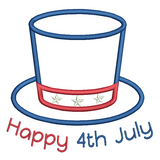 4th July hat applique machine embroidery design by rosiedayembroidery.com