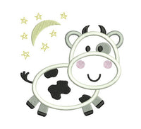 Cute Cow Applique (FA570-1)