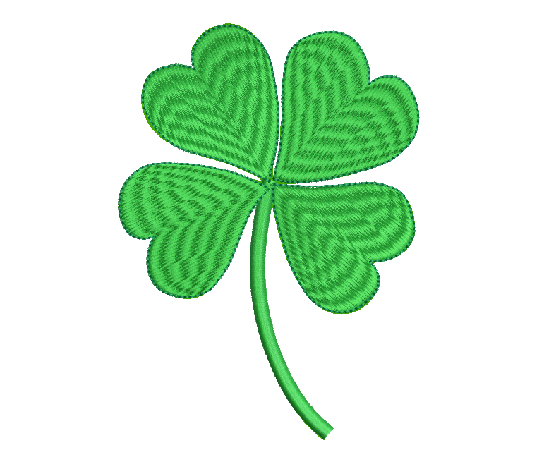 4 leaf clover machine embroidery design by rosiedayembroidery.com