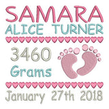 Baby Birth Announcement - Template (FTKG509-5)
