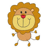 Big head lion machine embroidery design by embroiderytree.com